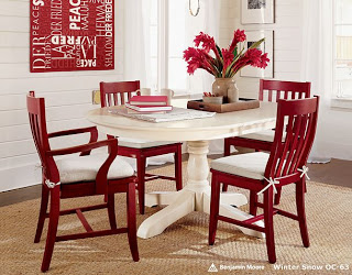 Christmas In November - love these red chairs!