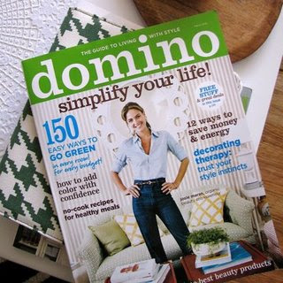 Domino Magazine was my favorite home magazine. Unfortunately they are going to stop publishing it!