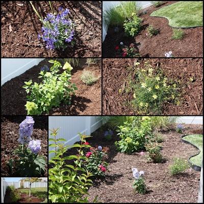 Exterior gardening beds