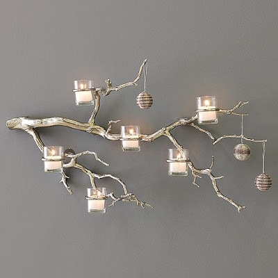 branch and candle holder