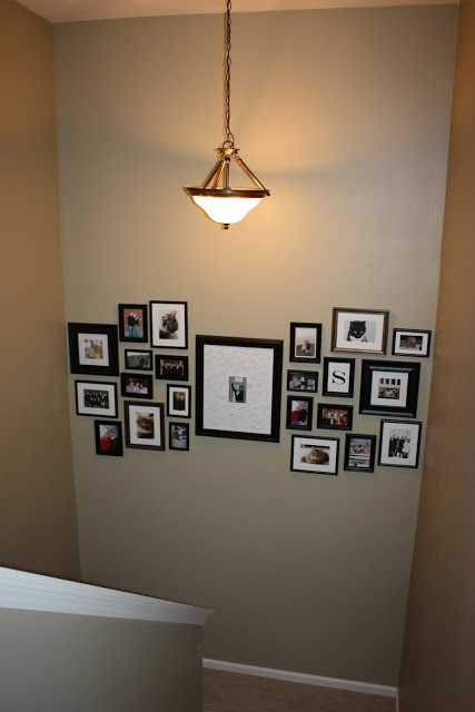 Photo gallery in a staircase
