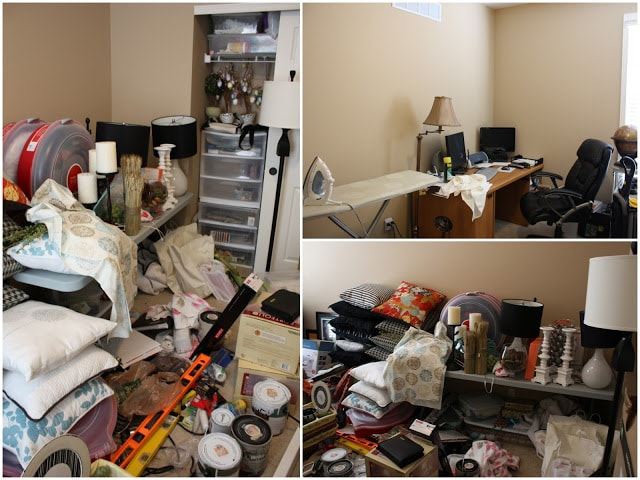 A room filled with various household items.