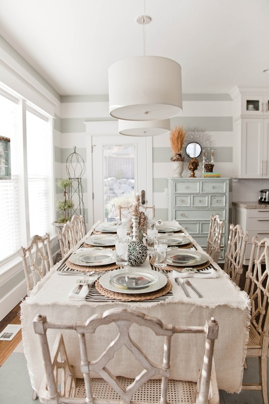 Striped Dining Room