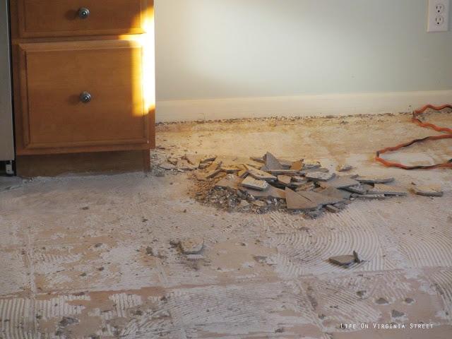Tearing up tile floors