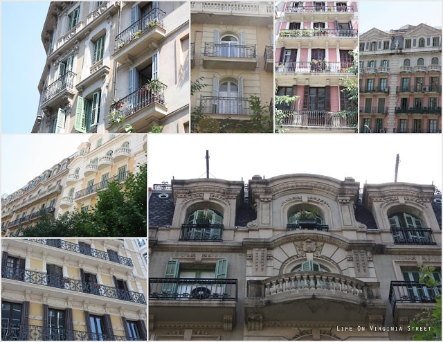 random buildings in barcelona