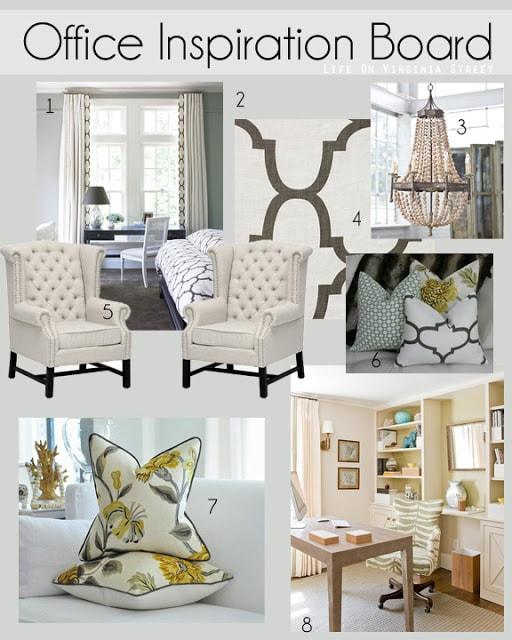Design Ideas: Office Inspiration Board | Life On Virginia Street