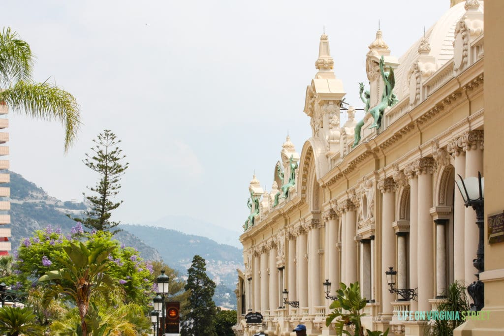 Exterior of the Monte Carlo Casino in Monaco.