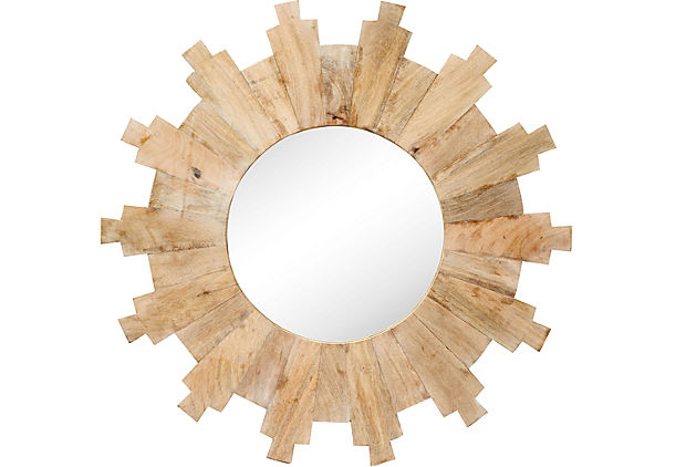 Mango Wood Sunburst Mirror