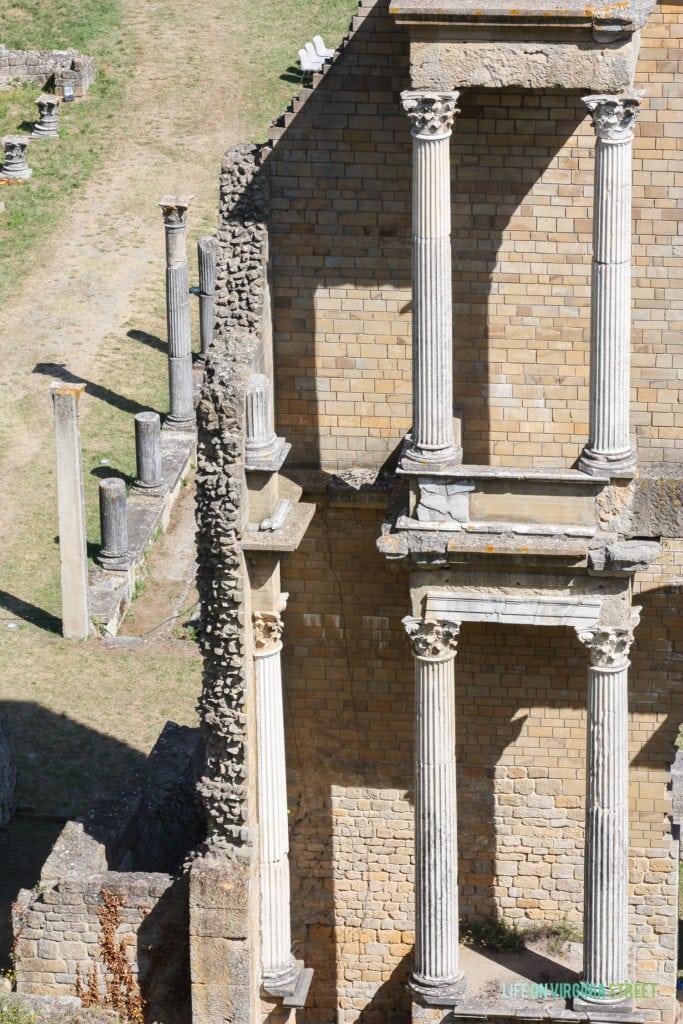 Roman Theatre Ruins in Volterra, Italy.