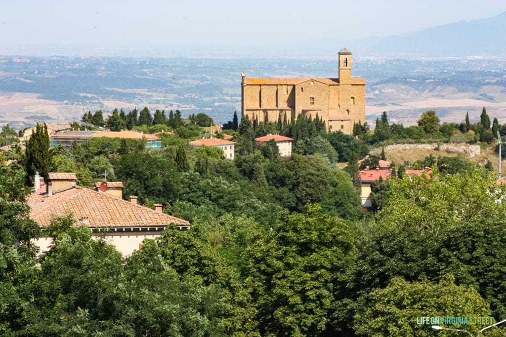 Gorgeous countryside view from Volterra, Italy.