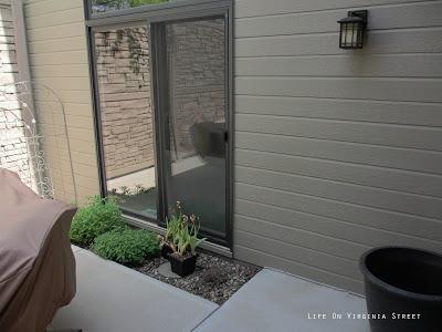 Sliding door off the courtyard.