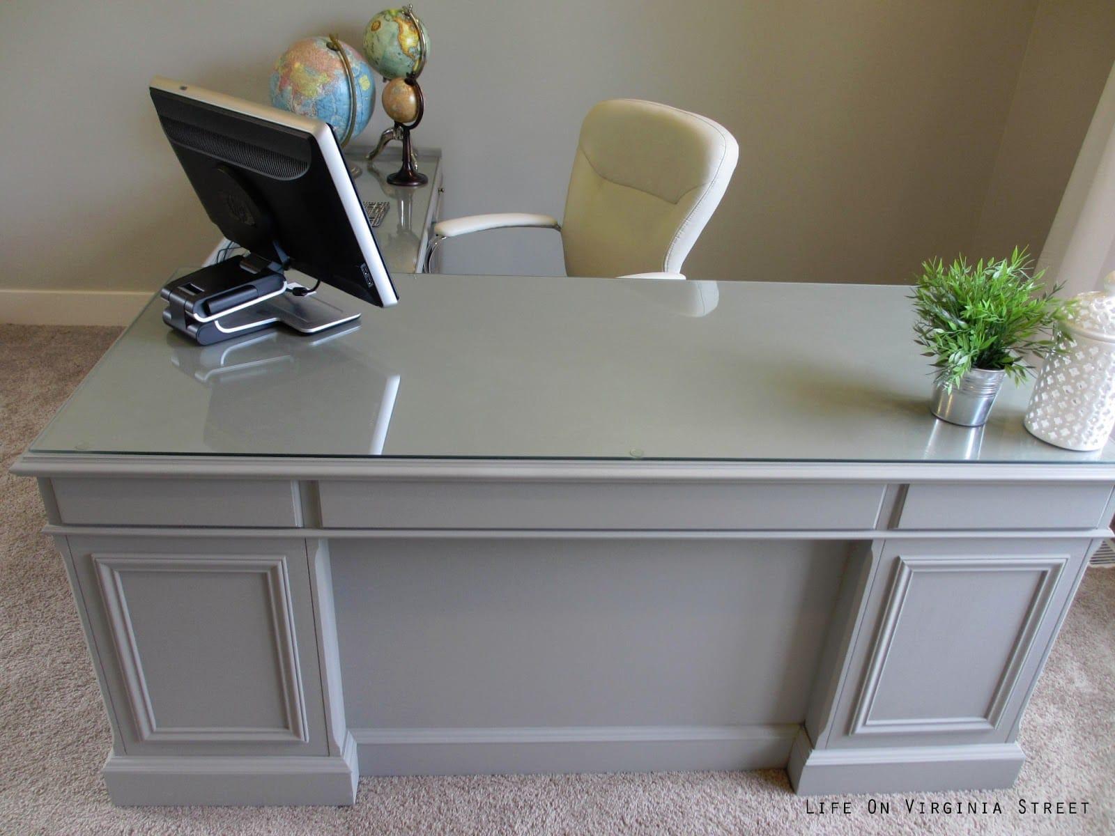 Office Desk Makeover Complete  Life On Virginia Street