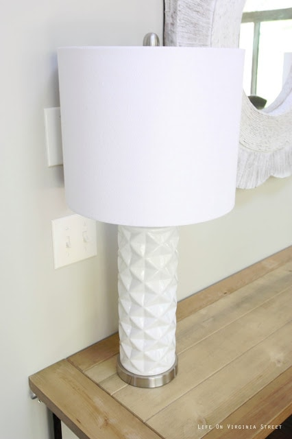White Geometric Lamp from HomeGoods