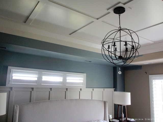 Painting a neutral bedroom with Behr Atmospheric blue