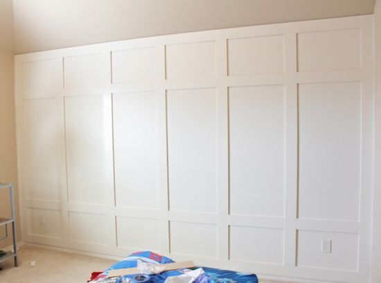 Board and batten is a simple way to dress up a plain wall.