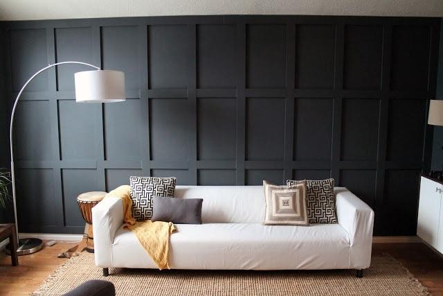 black board and batten wall