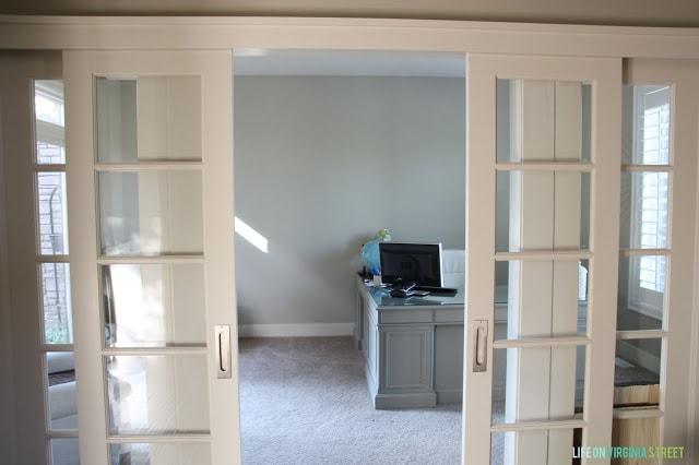 Office sliding french doors