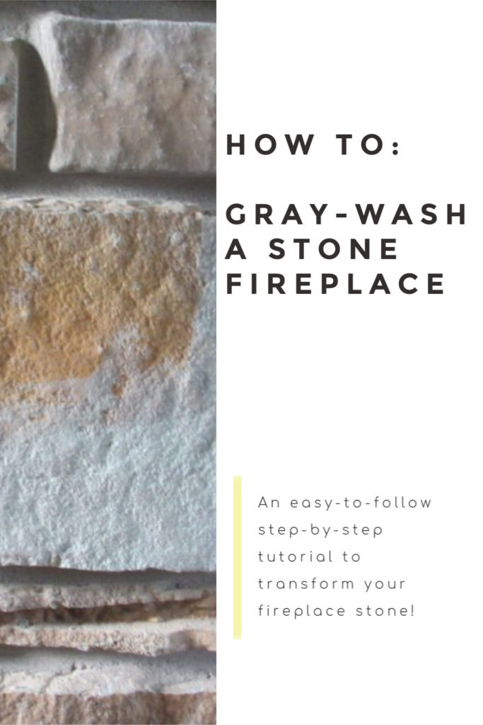 This step-by-step gray-washed stone fireplace tutorial will help transform your drab stone into something more modern and beautiful!