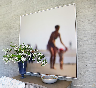 Beach Art in the Living Room