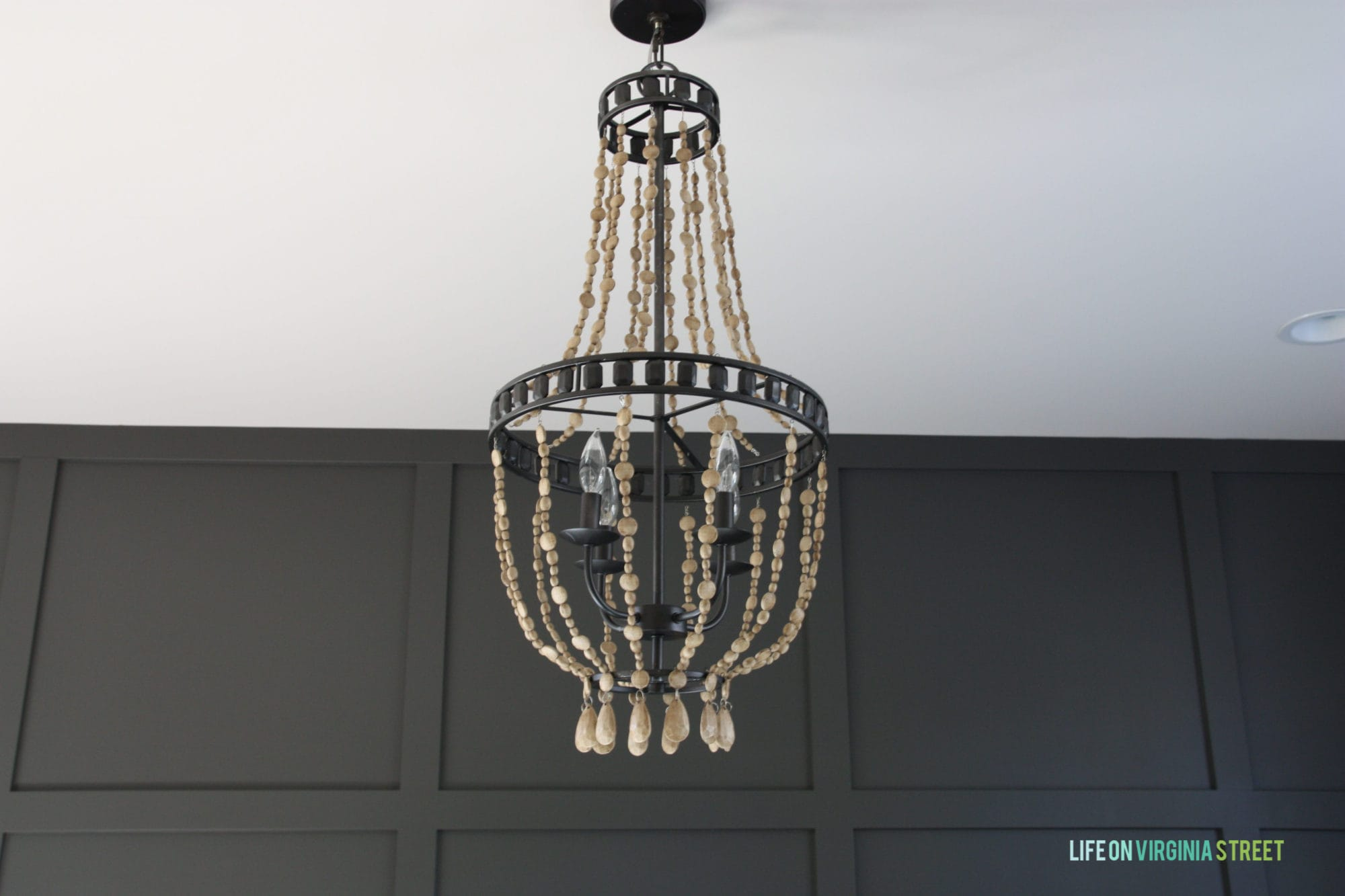 Diy Chandelier Diy Wood Bead Chandelier Using Chalk Paint Life On Virginia Street