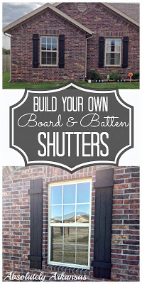 DIY Board and Batten Shutters from Absolutely Arkansas