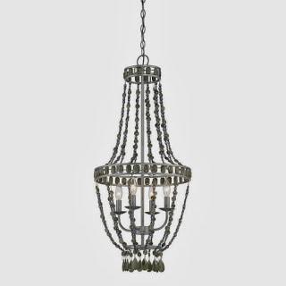 bead chandelier - Wood Bead Chandelier