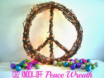 Peace with poster.