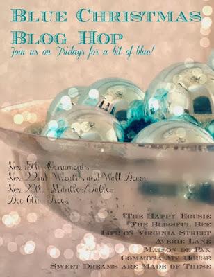 Blue Christmas Blog Hop poster.