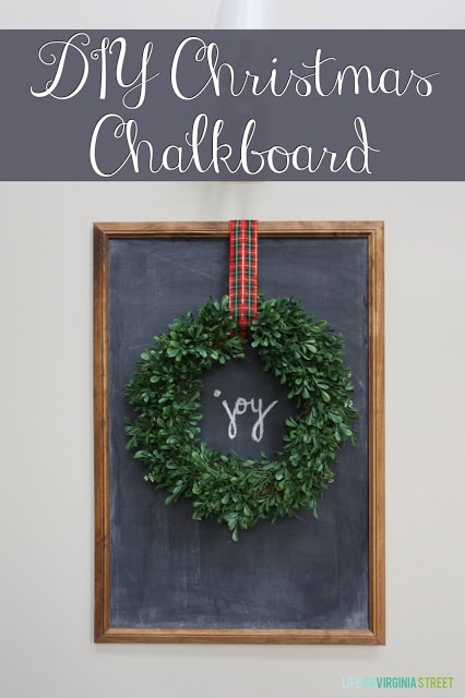 Easy DIY Christmas Chalkboard Wreath Tutorial