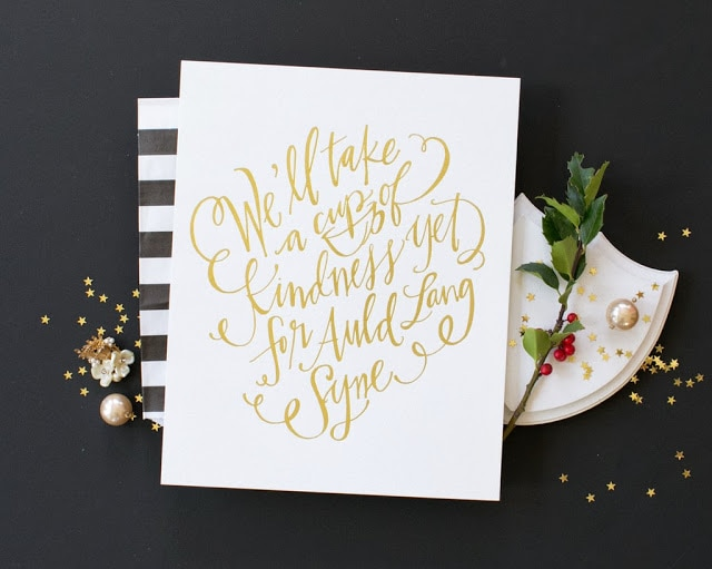 Auld Lang Syne: Gold, Glitter and Song