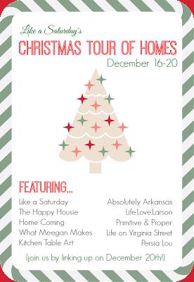 Christmas Tour Of Homes poster.