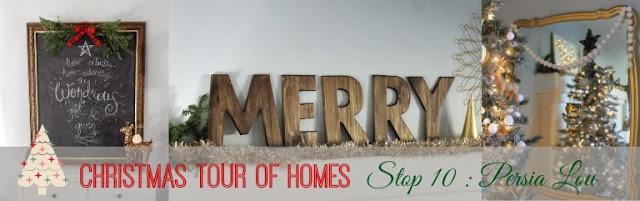 Christmas Tour Of Homes poster blogger.