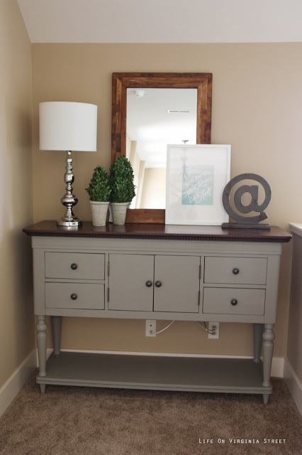 Buffet table painted with Annie Sloan Chalk Paint