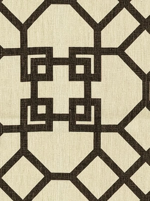 A graphic brown and white fabric.