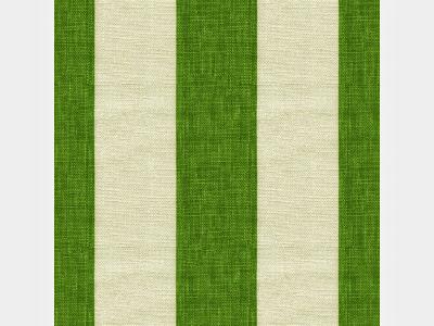 Green striped fabric.