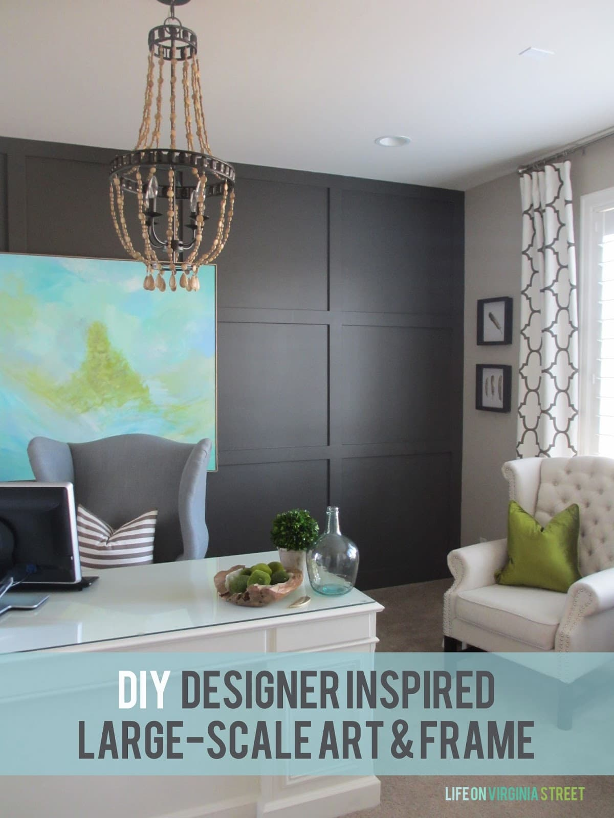 diy designer inspired art and frame life on virginia street - Diy Large Picture Frame
