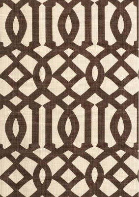 A dark brown and cream coloured fabric.