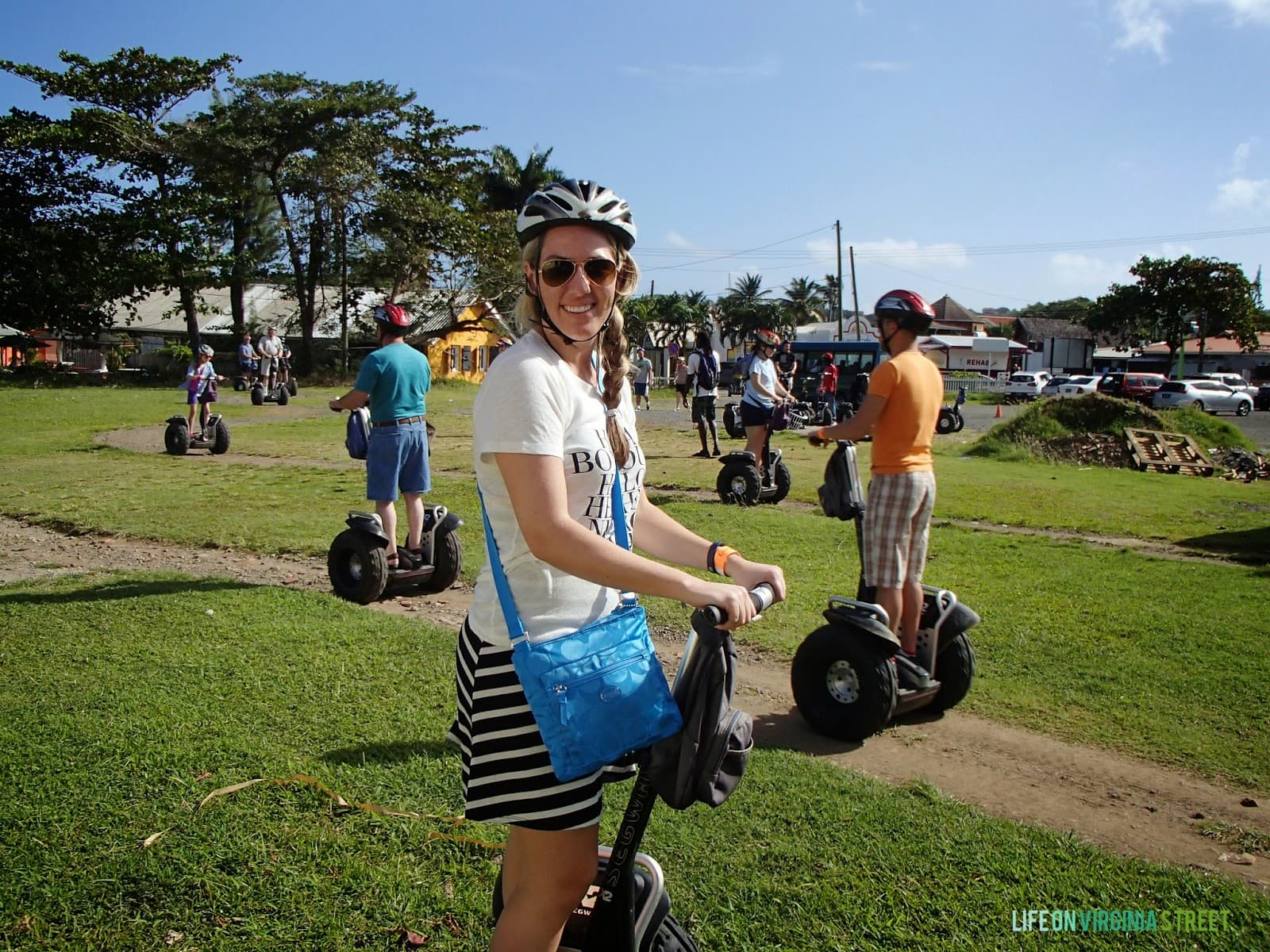 On a segway tour.