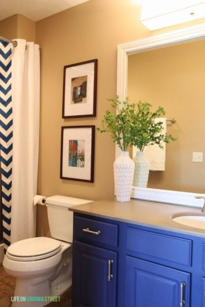 Guest Bathroom: Lighting and Framing a Builder-Grade Mirror Details