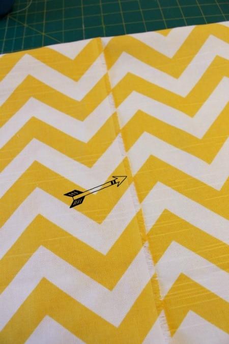 DIY Envelope Lumbar Pillow rough edge at the happy housie