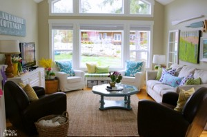 Spring Home Tour Living Room Overall at The Happy Housie