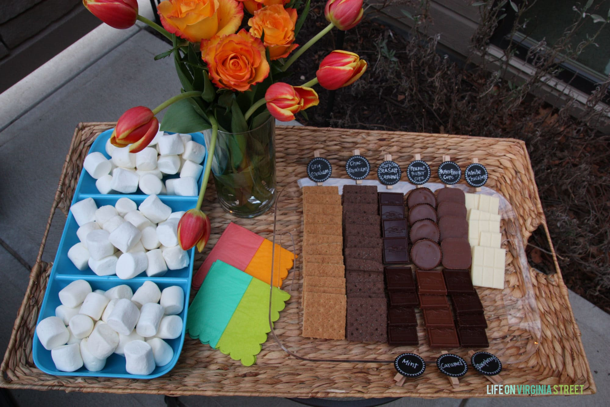 Gourmet S'Mores Bar Outdoor Party & TIKI® Brand Giveaway