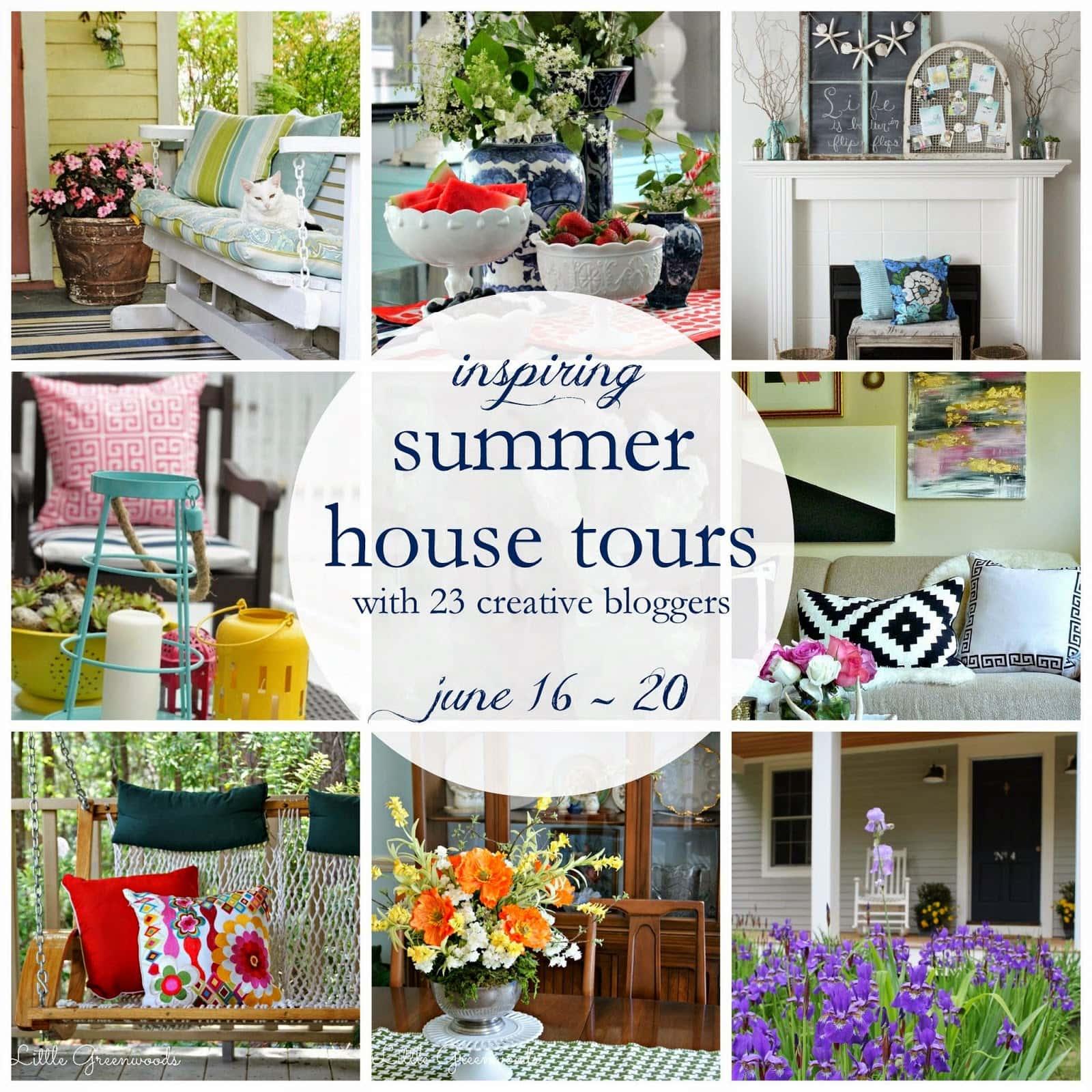 Inspiring summer house tours poster.