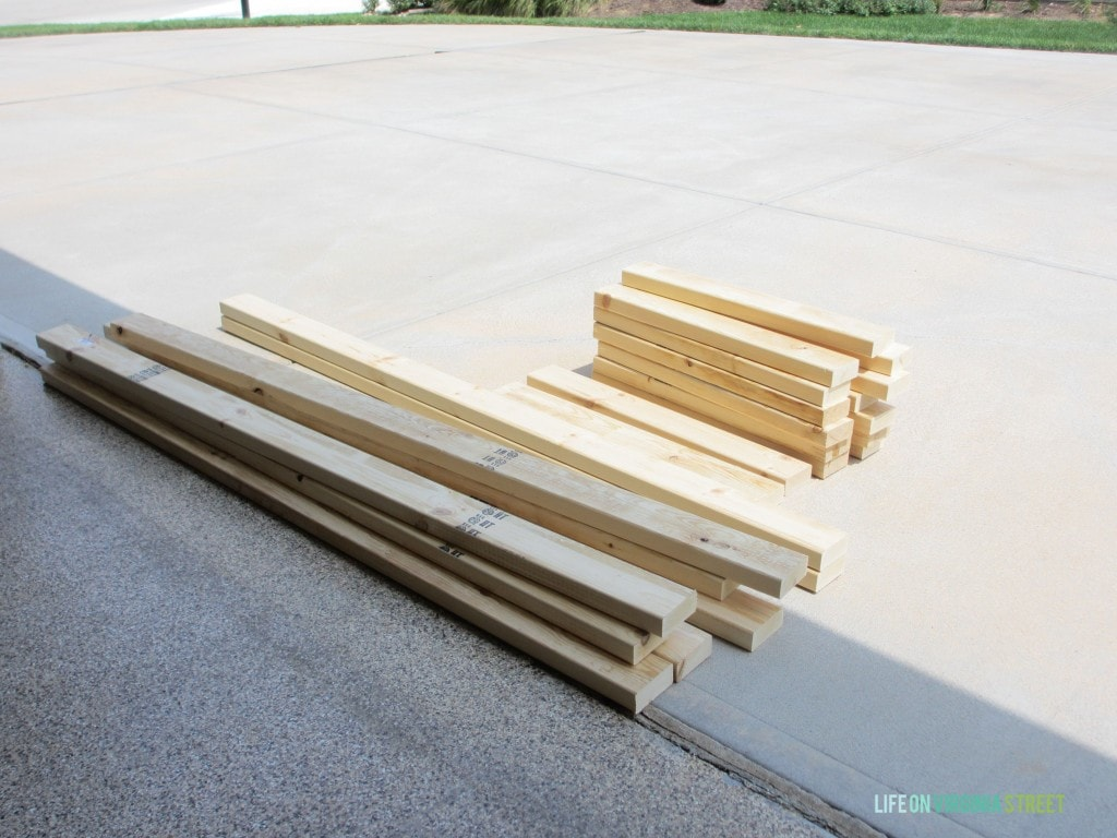 DIY Outdoor Couch wood