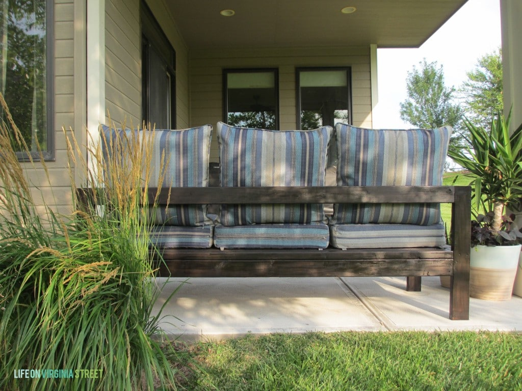 DIY Outdoor couch back