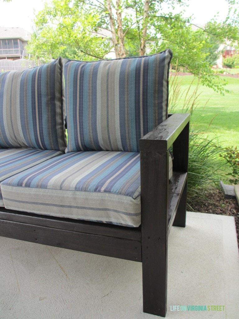 DIY Outdoor couch final