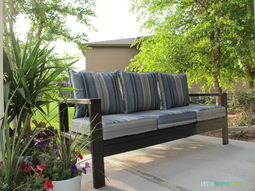 DIY Outdoor couch finished