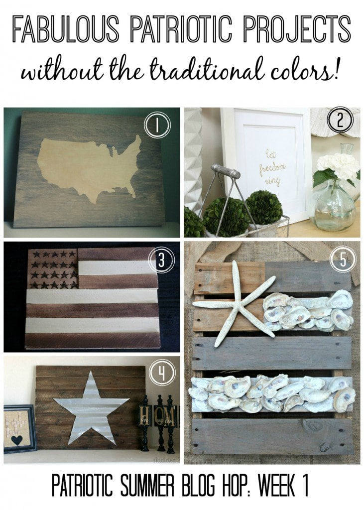 MUST PIN! Amazing patriotic project ideas that DON'T use the traditional colors! Very creative!