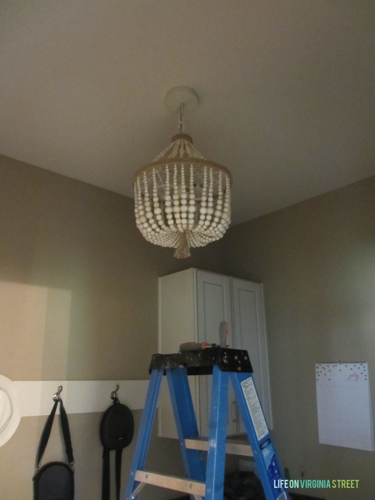 mudroom chandelier
