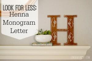Henna Monogram Letter